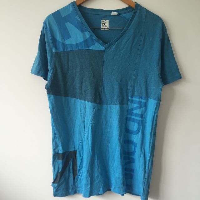 Blue Industrie Tee Size M 100% Cotton