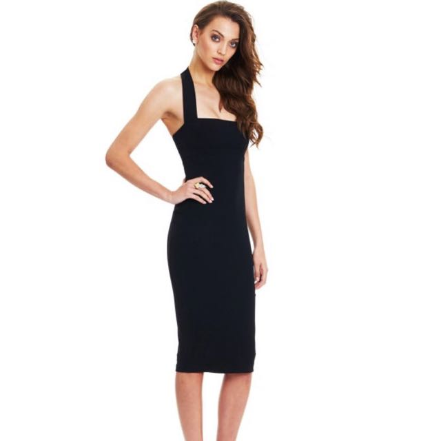 Boulevard  Halter Dress Black