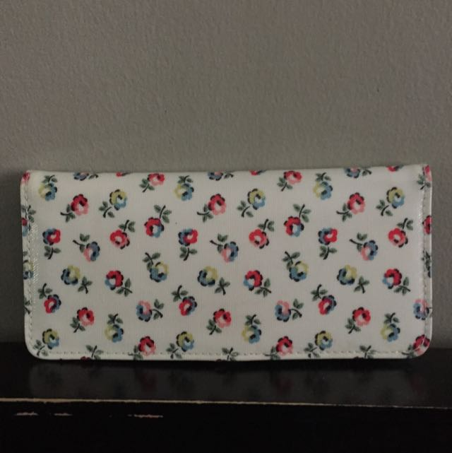 Cath Kidston Floral Wallet In White