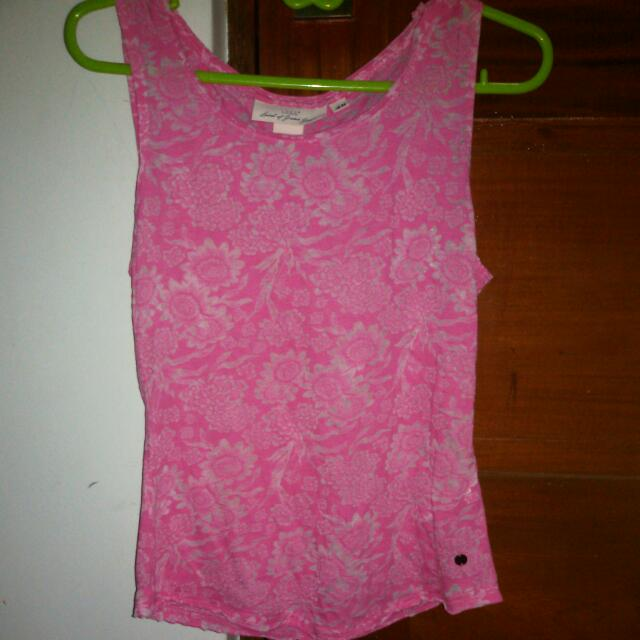H&M Pink Floral Top (Sleeveless)