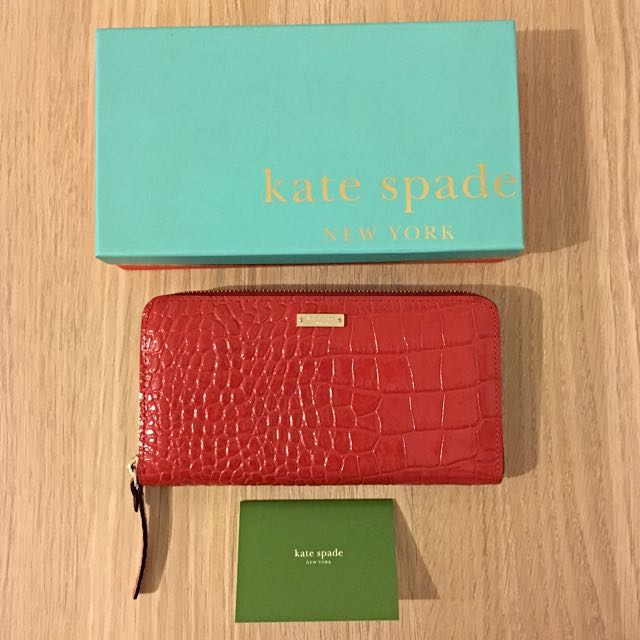 Kate Spade Patent Leather Wallet in red