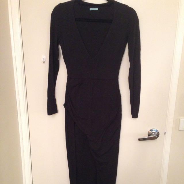 KOOKAI BLACK WRAP DRESS