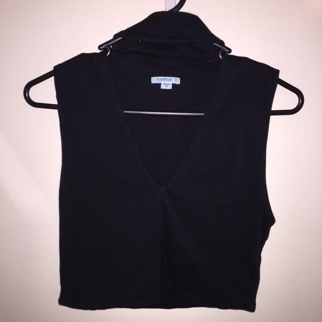 Kookai Circa Top Size 2 Black