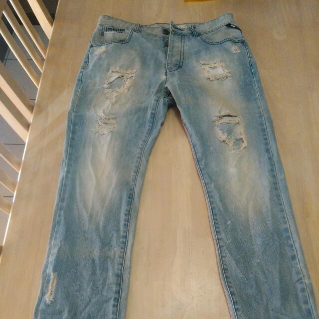Men Industrie Jeans Waist 32