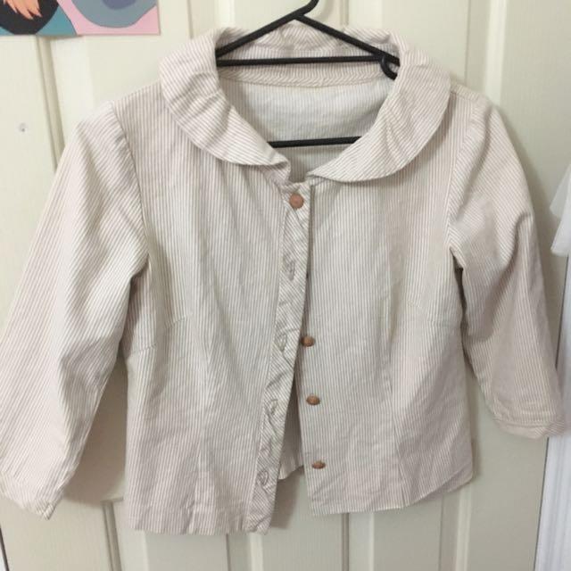🦄 Mori-Girl Styled Crop Jacket
