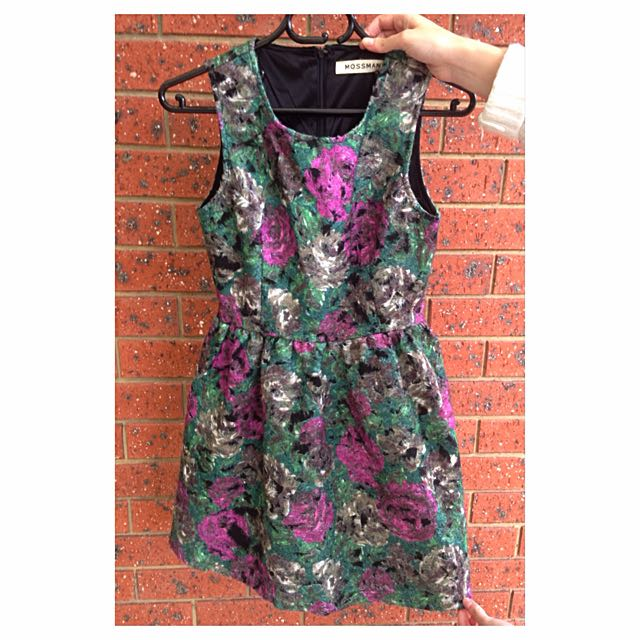 Mossman Floral Wool Dress