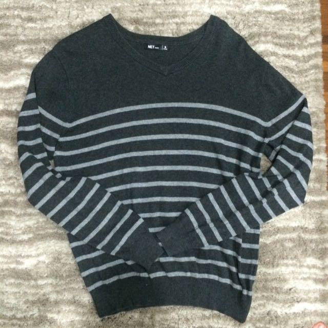 Net條紋針織衫