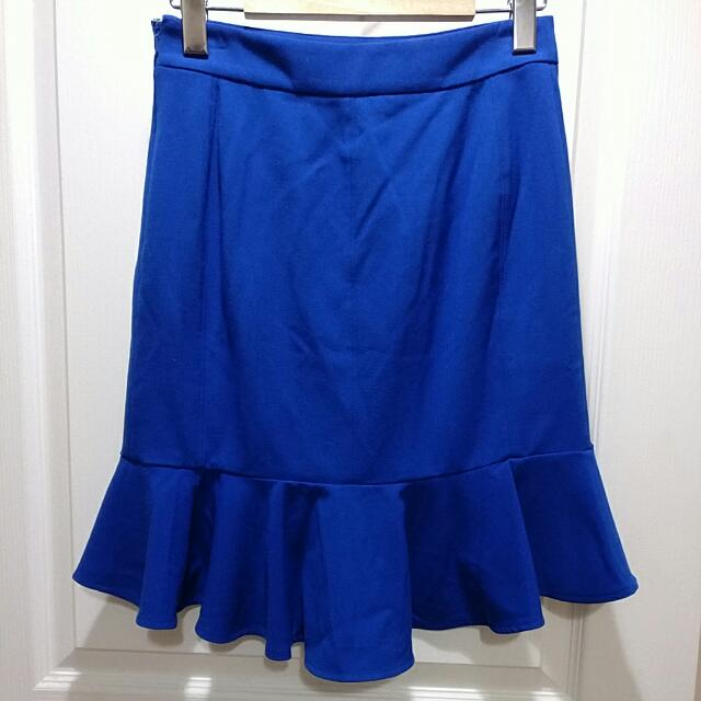 NWOT Anthropologie Pencil Skirt With Ruffles