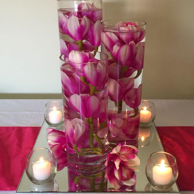 Orchid Sensation Centerpiece - Hire Only