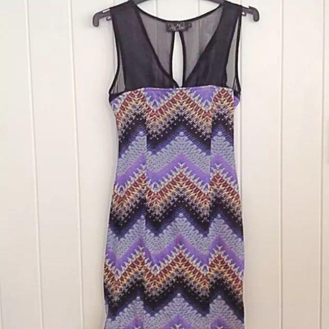 Purple Zigzag Dress