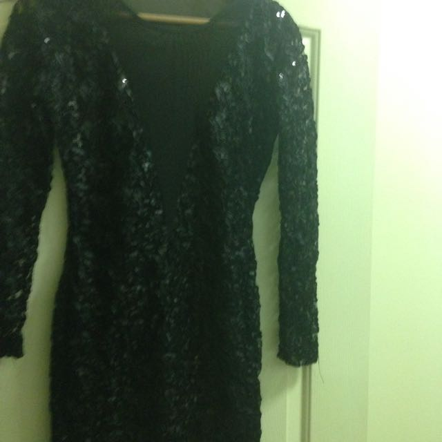 Short Sequin With Lace