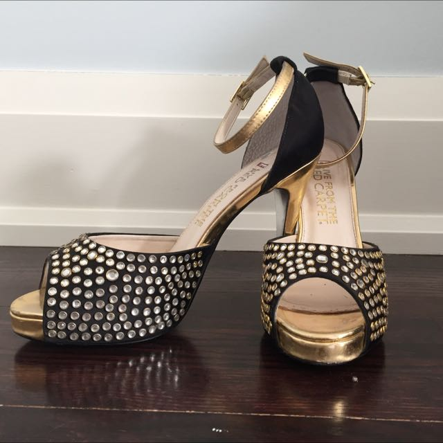 Silver Studded Evening Pumps