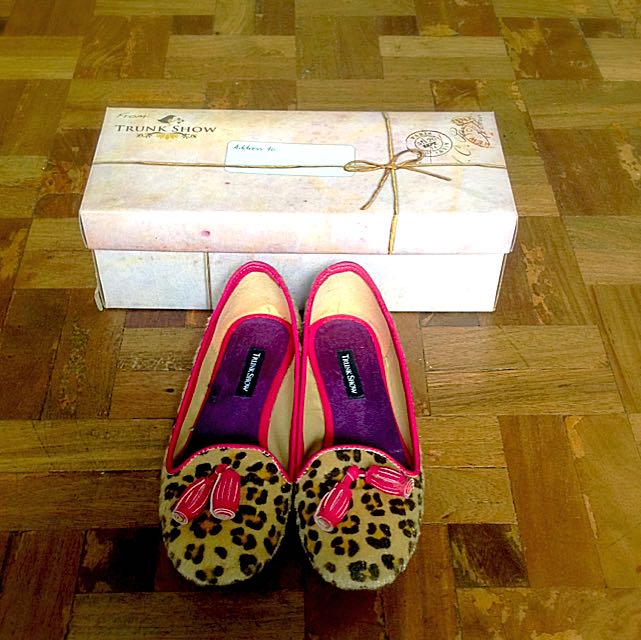 Trunk Show Leopard print slippers