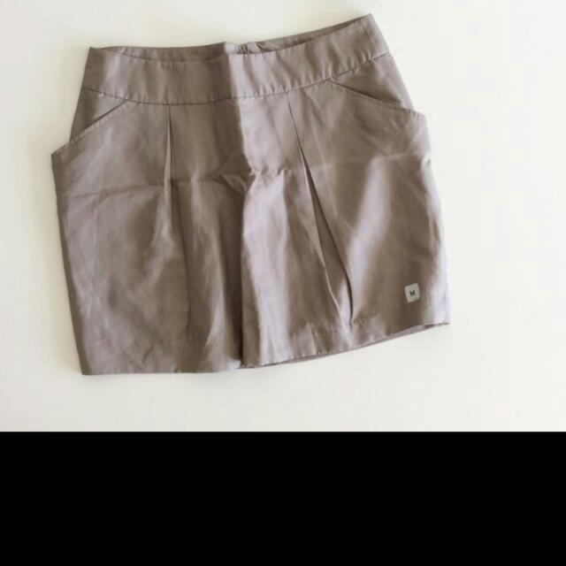 免郵-全新短裙(金褐色)