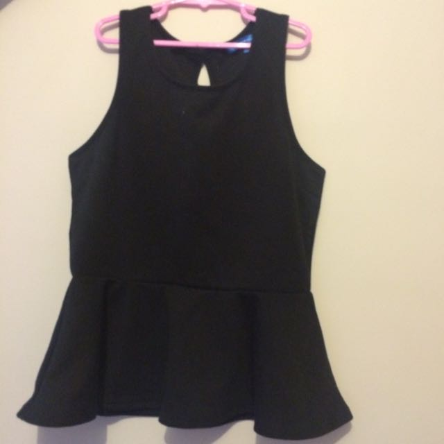 Valley Girl Peplum Top