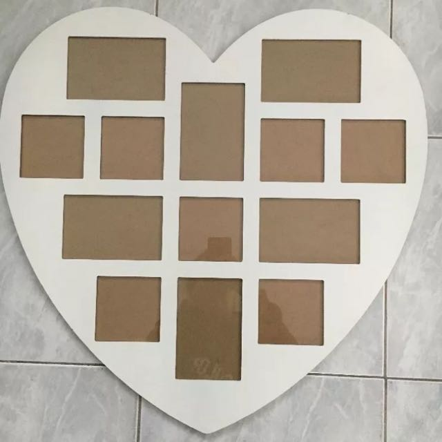 White Heart Shaped Mirror