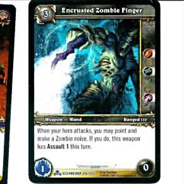 World of Warcraft TCG Singles - Encrusted Zombie Finger