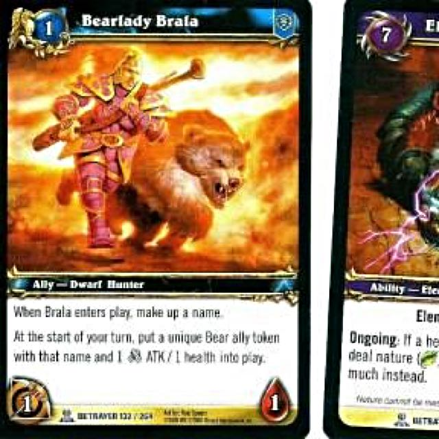 World of Warcraft TVG Singles - Bearlady Braka
