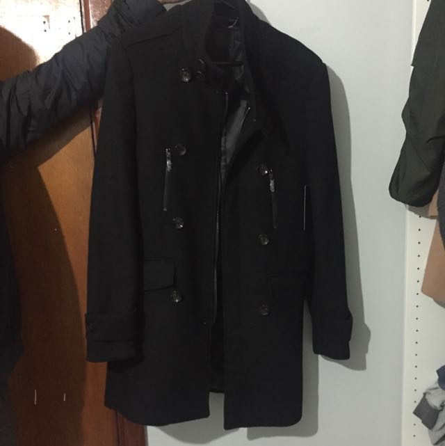 Yd Men's Black Coat Size M