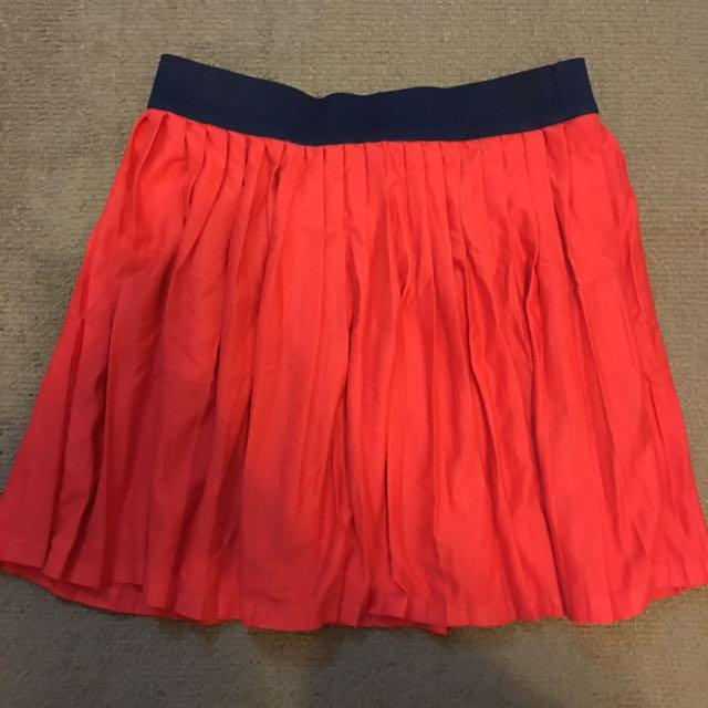 全新Zara女童裝(大人可穿)菊紅棉短裙11-12歲