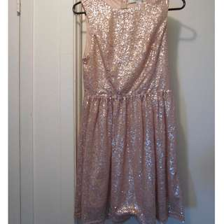 Champagne Sparkle Dress