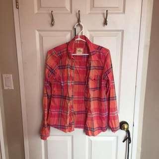 Hollister Large Plaid Shirt