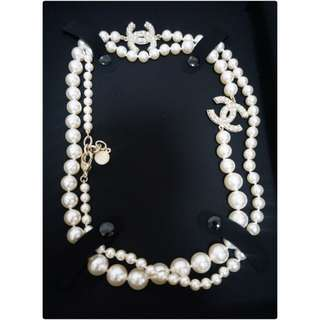 Chanel Pearl Long Neck Lace