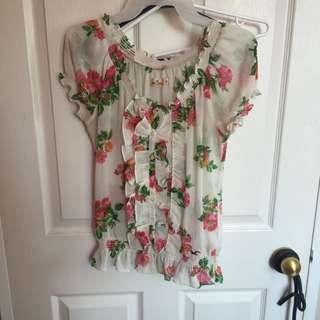 Hollister Flowered Shirt