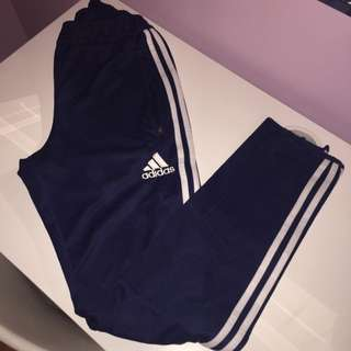 adidas navy and white pants