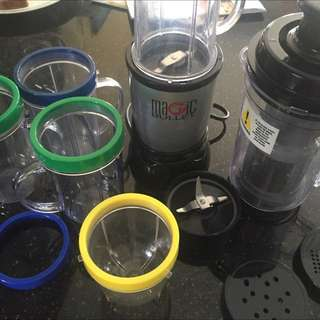 Magic Bullet Single Shot Blender With Juicer And Accessories
