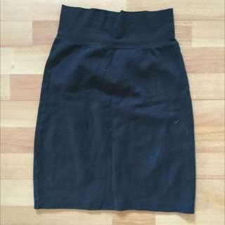 Black American Apparel Cotton Pencil Skirt