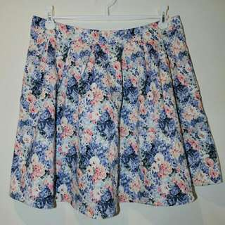 Pastel Floral Large Pleat Skirt || 14