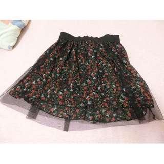黑紗裙 碎花短裙