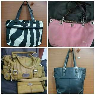 Kate Spade- Sold, Fossil- Sold, Burberrybag, Coach