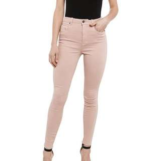 Bardot Nude High Waisted Jeans Size 6
