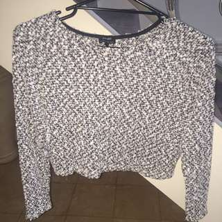 Bardot Long Sleeve Top Size 6