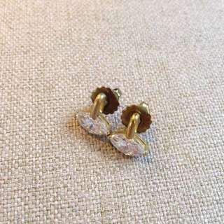 設計師黃銅鋯石耳環