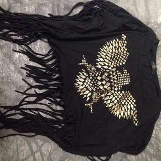 Club L Fringe Shirt