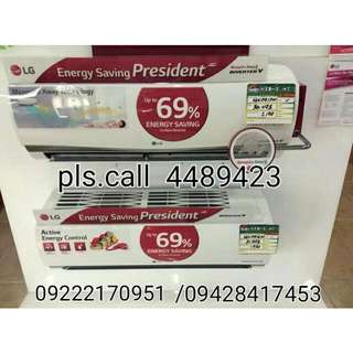 LG SPLIT TYPE AIRCON STANDARD INVERTER 1.0hp to 2.5hp with 1st 10ft. Installation