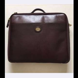 SALE: Bnib Brown Leather Briefcase/laptop Bag