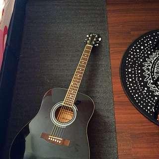 Black Acepro Acoustic Guitar