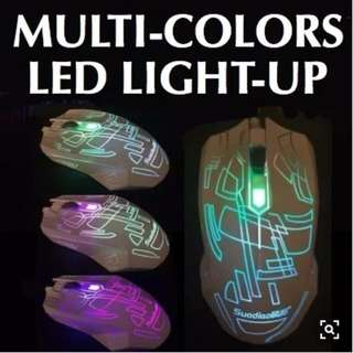 ★ Multi-colors LED Light-up Optical USB High-Speed Mouse ★ Control Buttons ★ Ergonomic Design ★