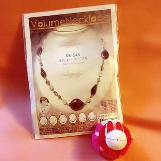紫色晶石珍珠頸鍊100%日本Diy材料包