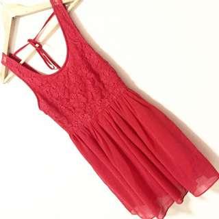 Forever 21 Rose Backless Dress