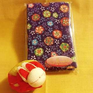 日本和布紫色金線花花座檯鏡100%日本純手工制作