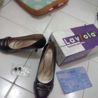 Sepatu Formal/Kantor Merk La Viola Hitam Baru Tidak Jadi Dipake