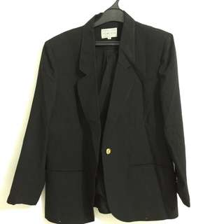 Black blazer with buttons