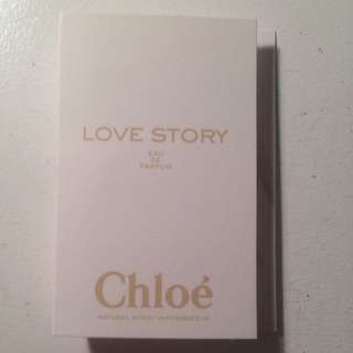 Chloe Love Story Perfume Sample Vial