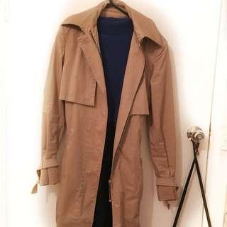 Zara Cape Style Trench Coat Jacket Coat Beige Camel