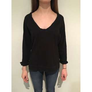 cotton on V neck Long sleeve